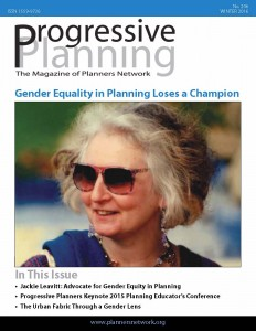 Winter 2016: Gender Equality in Planning Loses a Champion